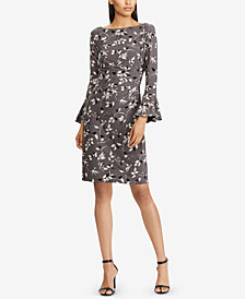 Lauren Ralph Lauren Floral Print Bell-Sleeve Dress