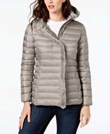 Cole Haan Faux-Fur-Trim Down Puffer Coat