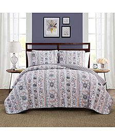 Keeco Laura Reversible 3-Pc. Full/Queen Quilt Set
