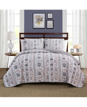 Keeco Laura Reversible 3Pc King Quilt Set