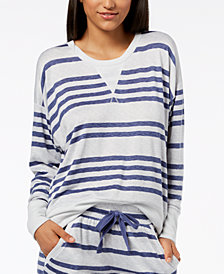Ande Ribbed-Trim Pajama Top