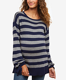 Motherhood Maternity Tie-Sleeve Sweater