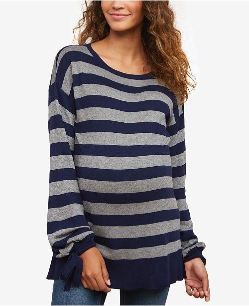 Motherhood Maternity Tie-Sleeve Sweater