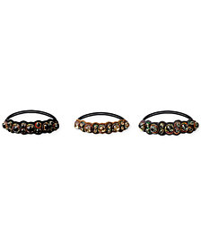 Deepa 3-Pc. Set Multi-Tone Embellished Hair Ties
