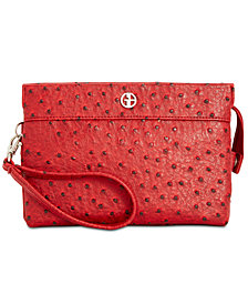 Giani Bernini Embossed Faux Ostrich Crossbody Wallet, Created for Macy's
