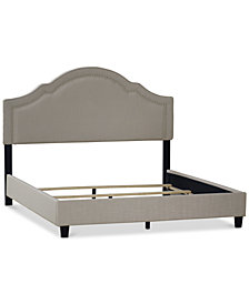 Andover Upholstered Bed - King, Quick Ship