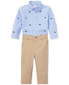 Ralph Lauren Baby Boys Oxford Shirt & Chino Pants Set
