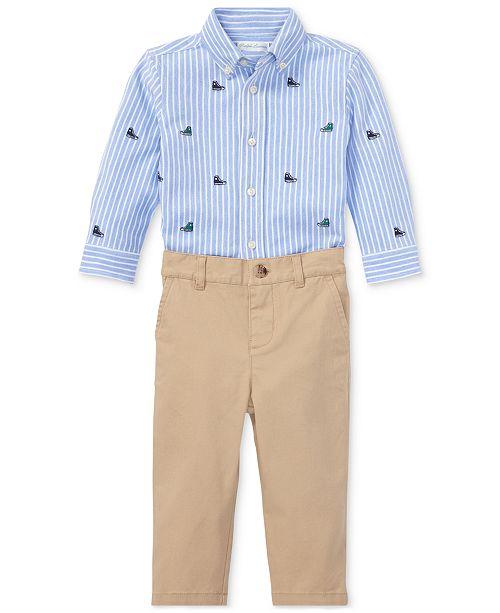 9b8dc9525 ... Polo Ralph Lauren Ralph Lauren Baby Boys Oxford Shirt & Chino Pants ...