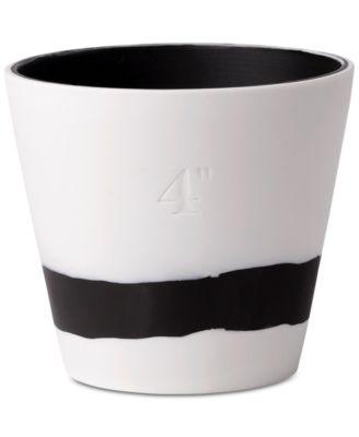 """Burlington  Black & White Pot 4"""""""