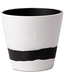 Wedgwood Burlington  Black & White Pot 4""