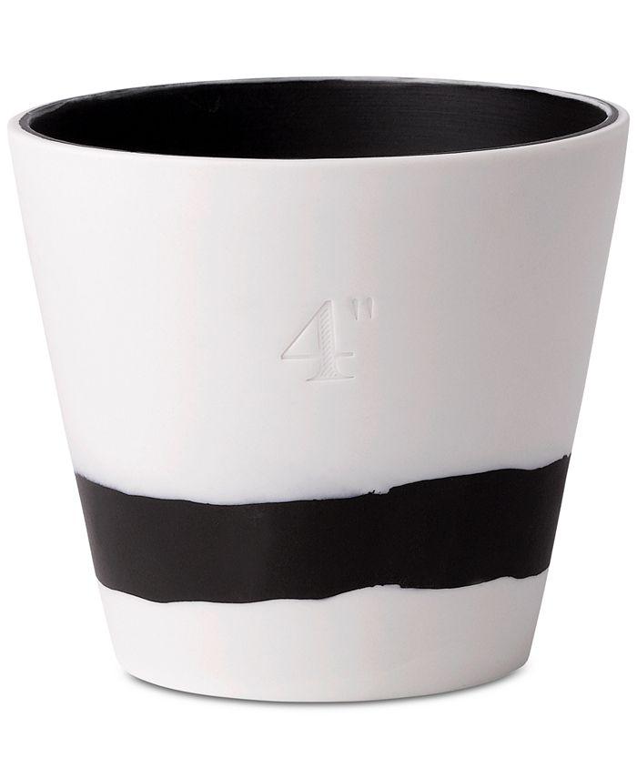 "Wedgwood - Burlington Black & White Pot 4"""