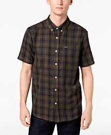 Volcom Men's Keiran Plaid Pocket Shirt