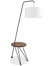 Stork Walnut Floor Lamp