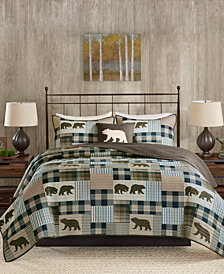 Woolrich Twin Falls Reversible 4-Pc. Oversized Full/Queen King Quilt Set