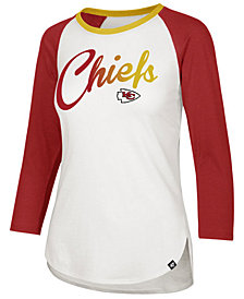'47 Brand Women's Kansas City Chiefs Splitter Ombre Raglan T-Shirt