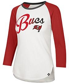 Women's Tampa Bay Buccaneers Splitter Ombre Raglan T-Shirt