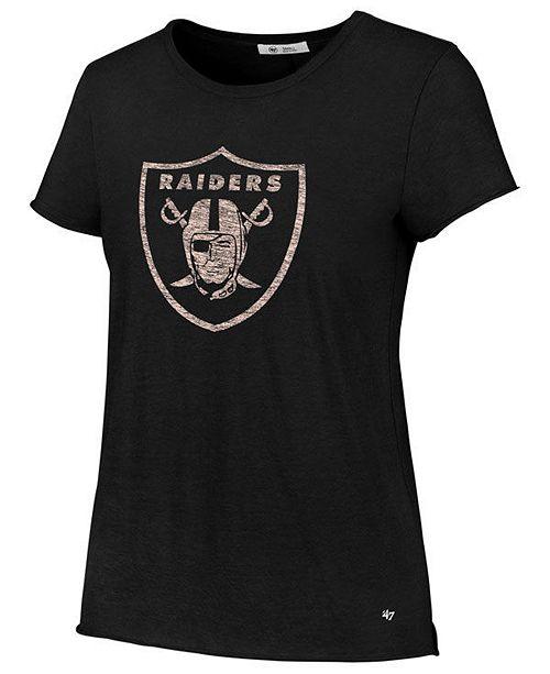 '47 Brand Women's Oakland Raiders Letter Crew T-Shirt