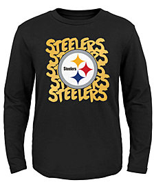 Outerstuff Pittsburgh Steelers Graph Repeat T-Shirt, Toddler Boys (2T-4T)
