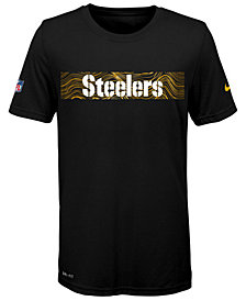 Nike Pittsburgh Steelers Sideline T-Shirt, Big Boys (8-20)