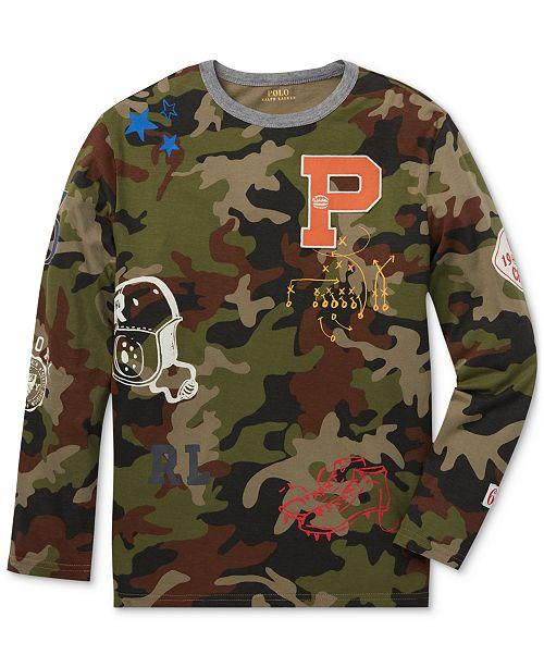 8385ad506b1b Polo Ralph Lauren Big Boys Graphic Cotton T-Shirt   Reviews - Shirts ...