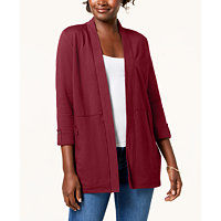 Deals on Karen Scott 3/4-Sleeve Open-Front Cardigan