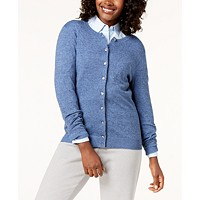 Karen Scott Marled Cardigan Sweater