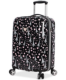 "Betsey Johnson Paris Love 20"" Hardside Carry-On Spinner Suitcase"
