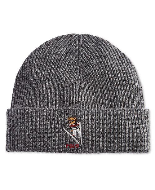 aa05696a2f5 ... Cuffed Hat  Polo Ralph Lauren Men s Polo Bear Skiing Cuffed ...