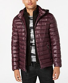 Men's Packable Down Hooded Puffer Jacket