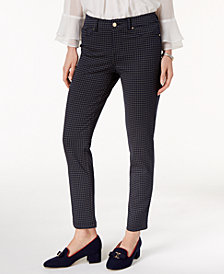 Charter Club Windham Rope-Print Stretch Pants, Created for Macy's