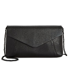 Adrianna Papell Metallic Envelope Clutch
