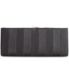 Adrianna Papell Frame Striped Satin Clutch