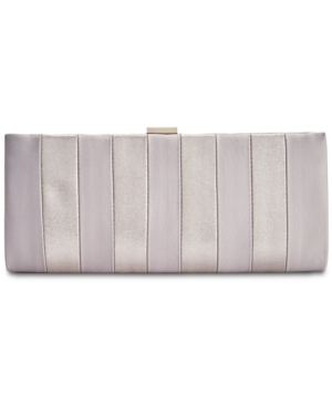 Image of Adrianna Papell Frame Striped Satin Clutch