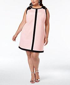 Betsey Johnson Plus Size Bow-Trim A-Line Dress