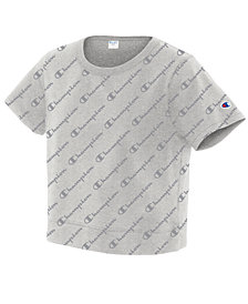 Champion Cotton Cropped Logo T-Shirt
