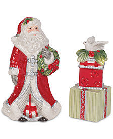 Fitz and Floyd Tartan Christmas Salt & Pepper Shaker Set