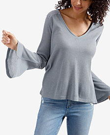 Lucky Brand Flare-Sleeve Thermal Top