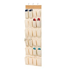 24-Pocket Over-The-Door Closet Organizer