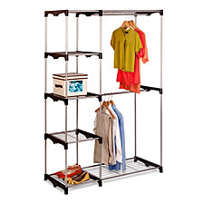 Honey Can Do Double Rod Freestanding Closet