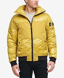 DKNY Men's Mixed Media Puffer Bomber Jacket, Created for Macy's