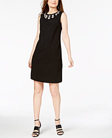 Calvin Klein Jewel-Neck Sleeveless Sheath Dress