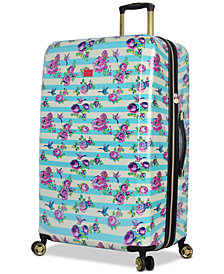 "Betsey Johnson Hummingbird 30"" Hardside Spinner Suitcase"