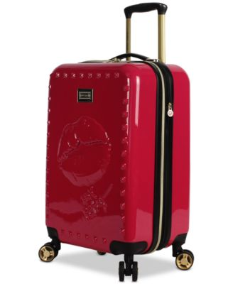 "Lips 20"" Hardside Expandable Carry-On Spinner Suitcase"
