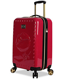 "Betsey Johnson Lips 20"" Hardside Expandable Carry-On Spinner Suitcase"