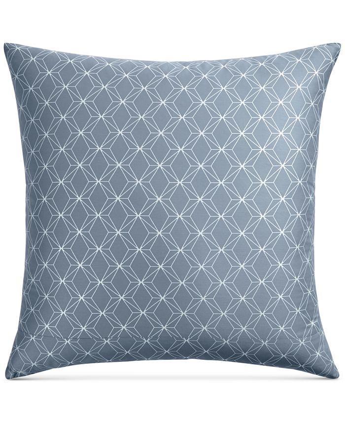Hotel Collection - Cascade Cotton 400-Thread Count Blue European Sham