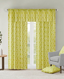 Madison Park Delray Diamond-Print Twill Window Treatment Collection