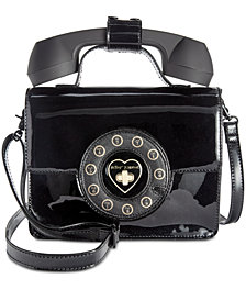 Betsey Johnson Patent Phone Crossbody