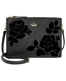 kate spade new york Cameron Street Flock Roses Clarise  Crossbody
