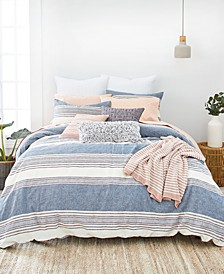 Tuscan Stripe King Duvet Cover Set