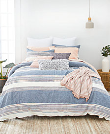 Splendid Tuscan Stripe King Duvet Cover Set